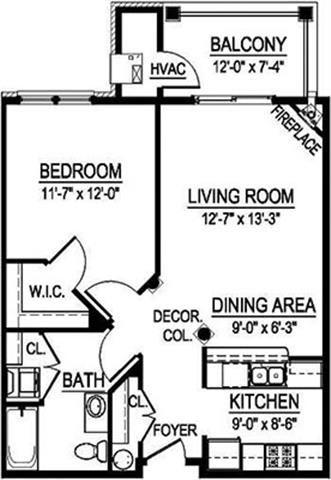 GTS Virginian I - 1 Bed, 1 Bath