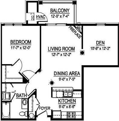 GTS Arlington II - 1 Bed, 1 Bath w/ Den