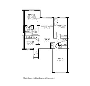 CP Oakshire - 2 Bed, 2 Bath Lower Interior