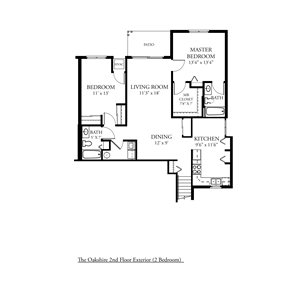 CP Oakshire - UPPER EXTERIOR - 2 Bed, 2 Bath