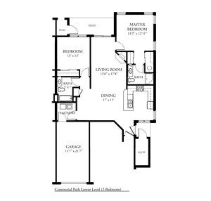CP Arbors Addition - 2 Bed, 2 Bath Lower