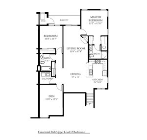 CP Arbors Addition - UPPER - 2 Bed, 2 Bath + Den