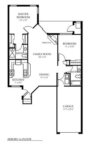 2 Bed 2 Bath 1st Flr Arbors