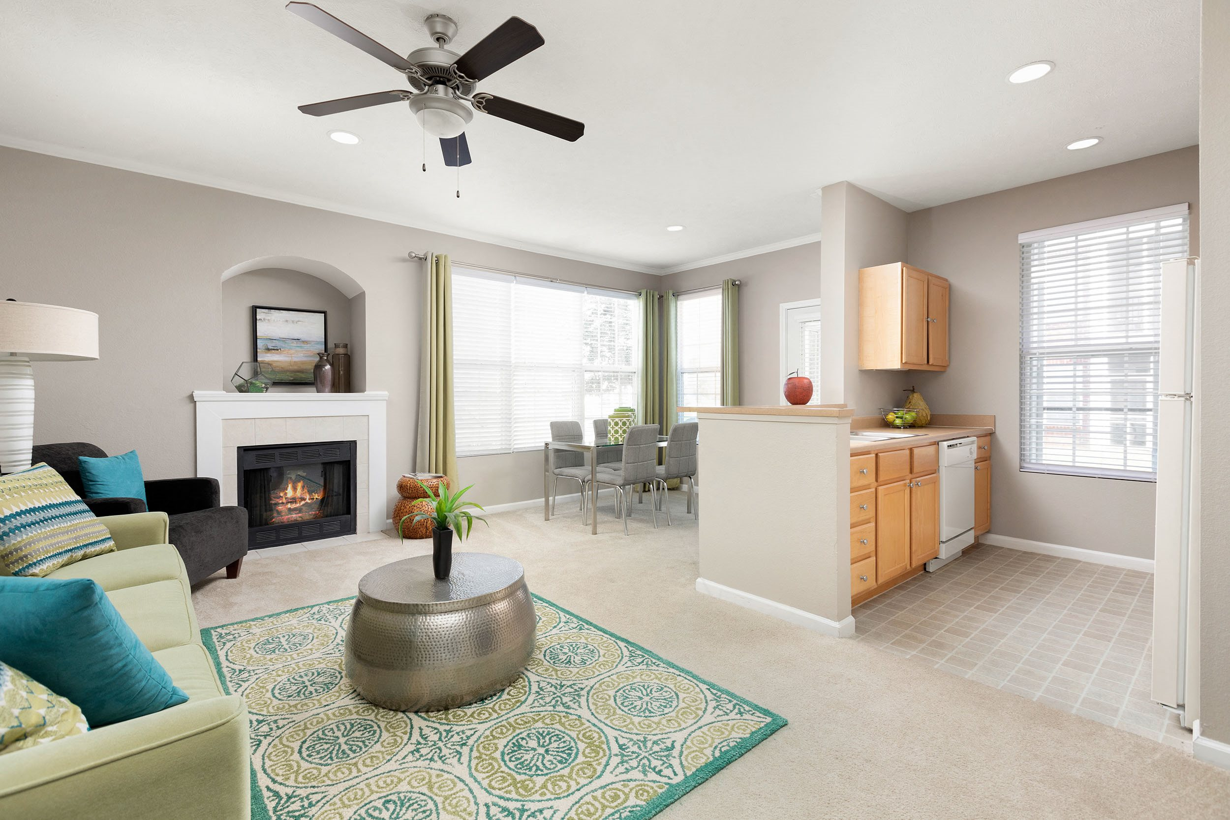 Spacious Living Room - Bayview Club Apartments