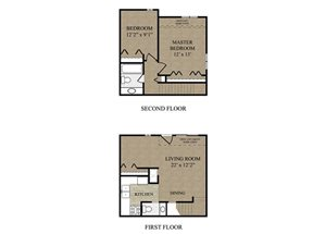 2 Bed Townhouse 1 and 1.5 Bath