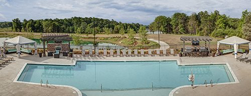Sparkling Swimming Pool at LangTree Lake Norman Apartments