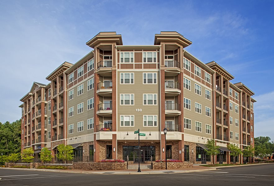 Exterior view at LangTree Lake Norman Apartments