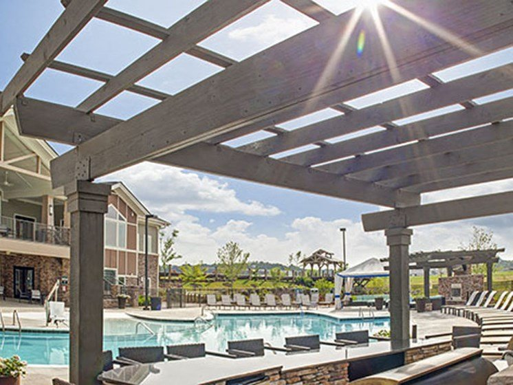 Luxury Lakeside Pool at LangTree Lake Norman Apartments