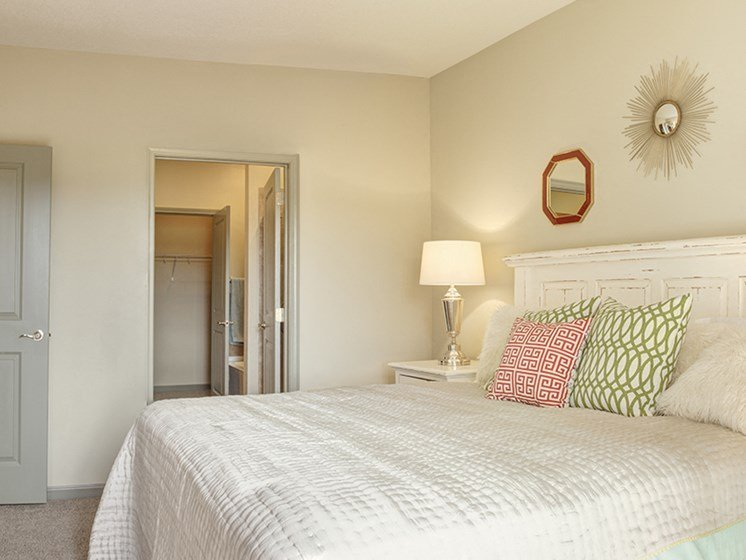 Cozy Bedrooms at LangTree Lake Norman Apartments