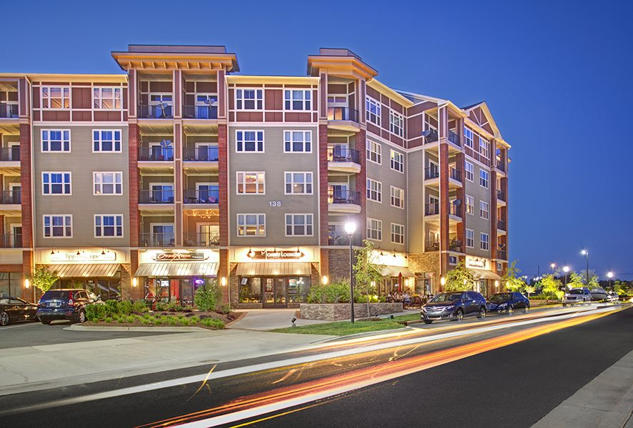 Nightlife at LangTree Lake Norman Apartments