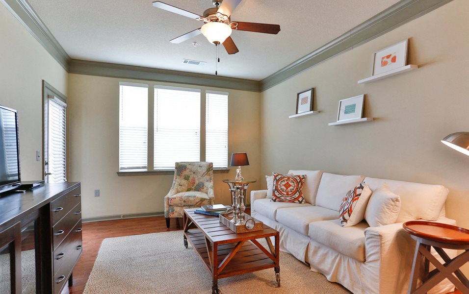 Cozy Living Room at LangTree Lake Norman Apartments