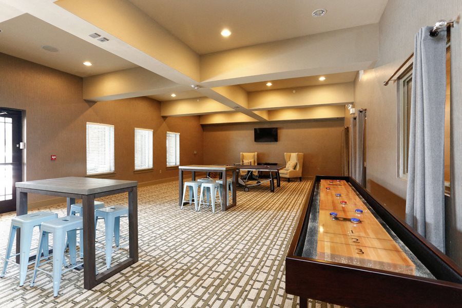Game Room at LangTree Lake Norman Apartments