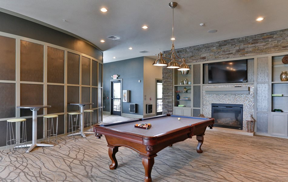 Pool Table at LangTree Lake Norman Apartments