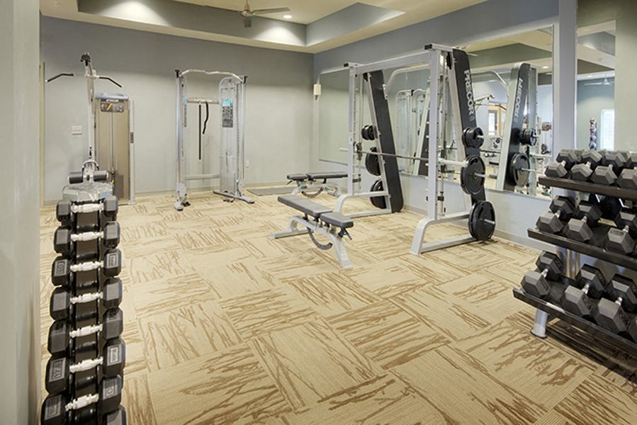 1,700 sq ft fitness center at LangTree Lake Norman Apartments
