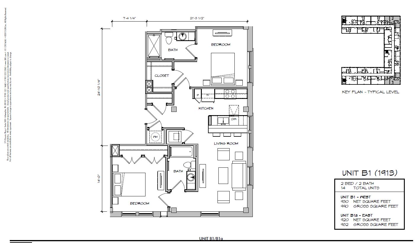 B1 - 1913 Floor Plan 24