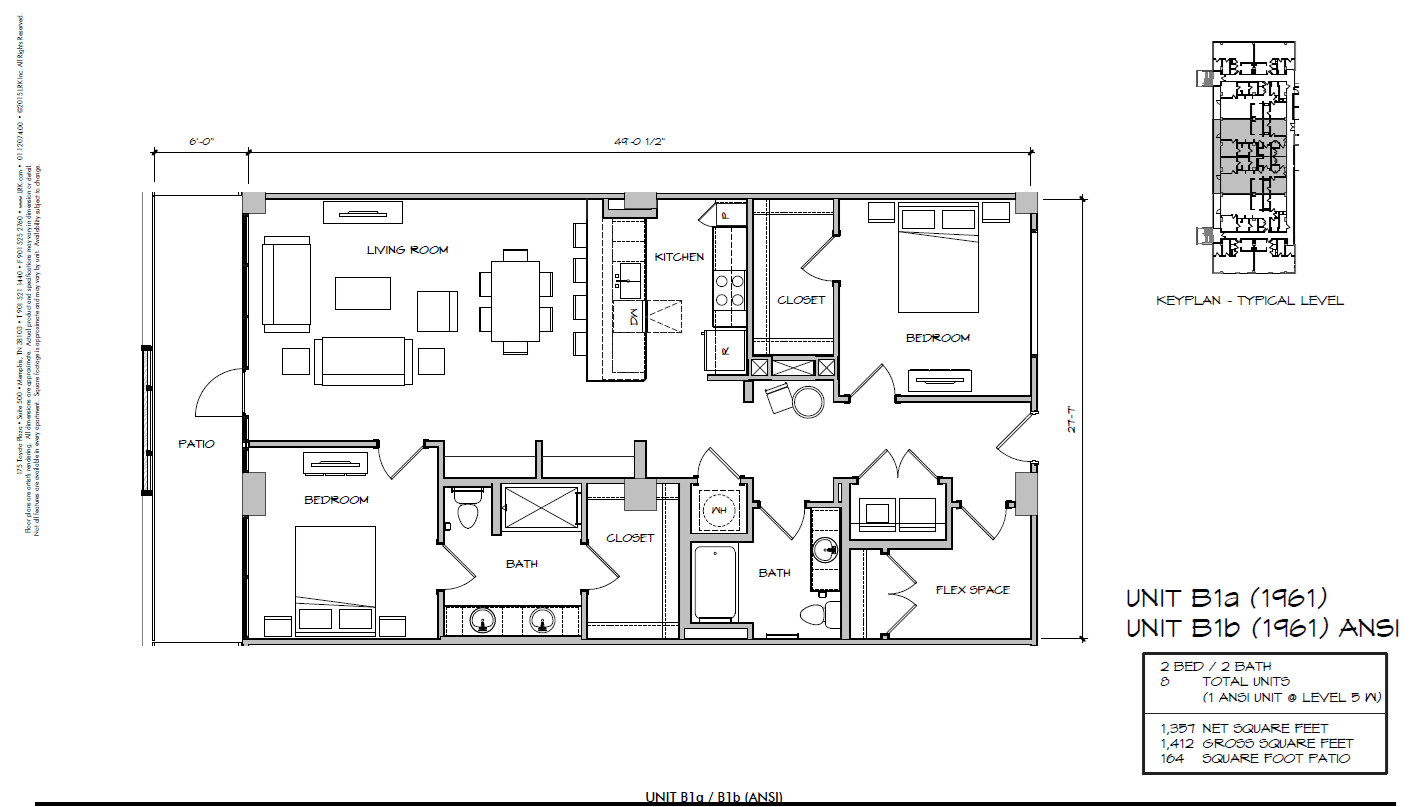 B1a - 1961 Floor Plan 28