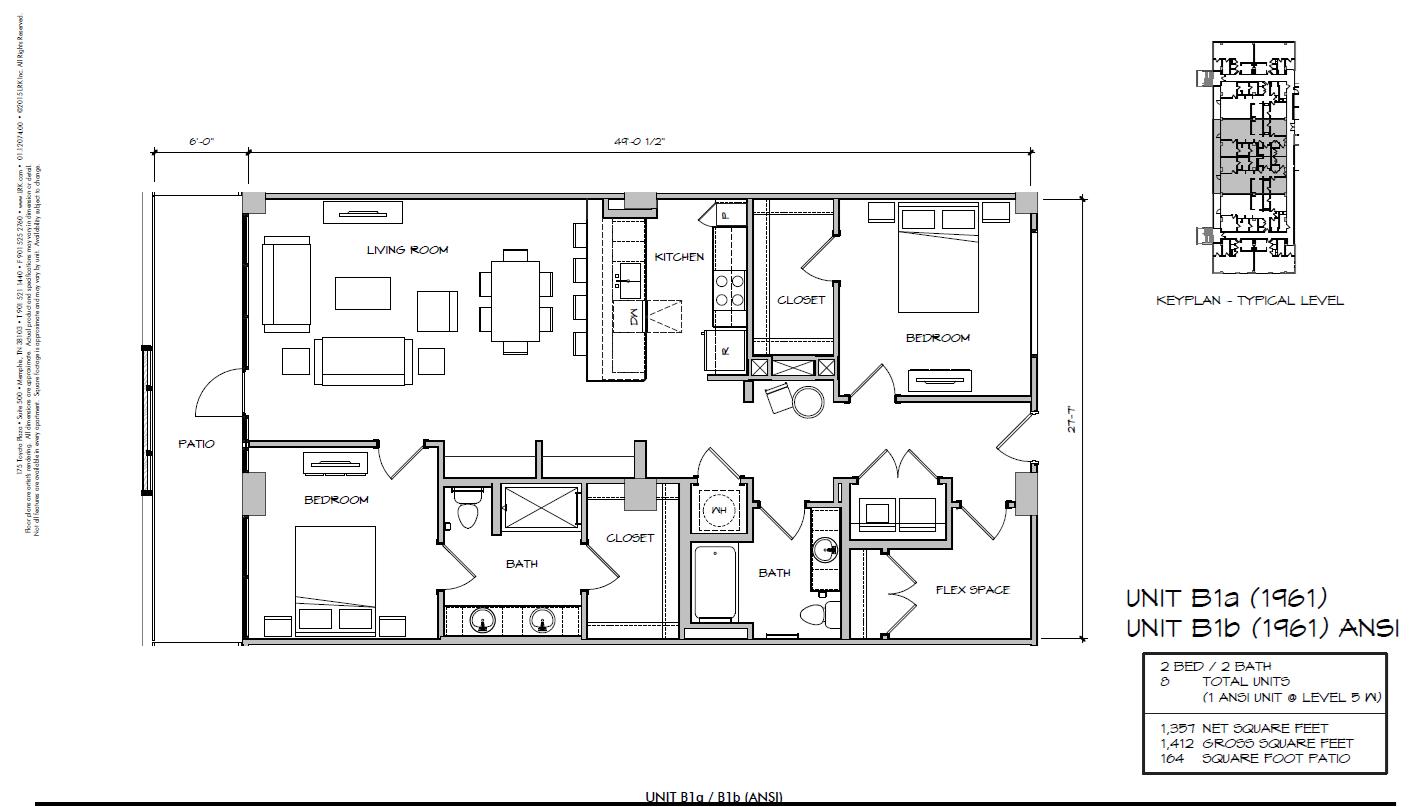 B1b - 1961 Floor Plan 29