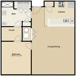 South: 1 Bedroom Accessible