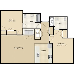 South: 2 Bedroom Accessible
