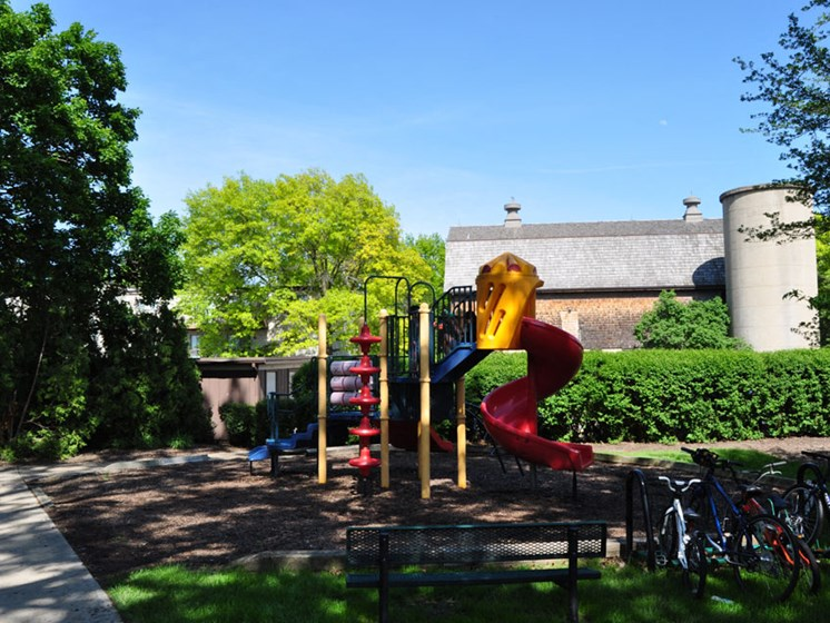 Playground at Prairie Pointe Apartments in St. Charles Illinois