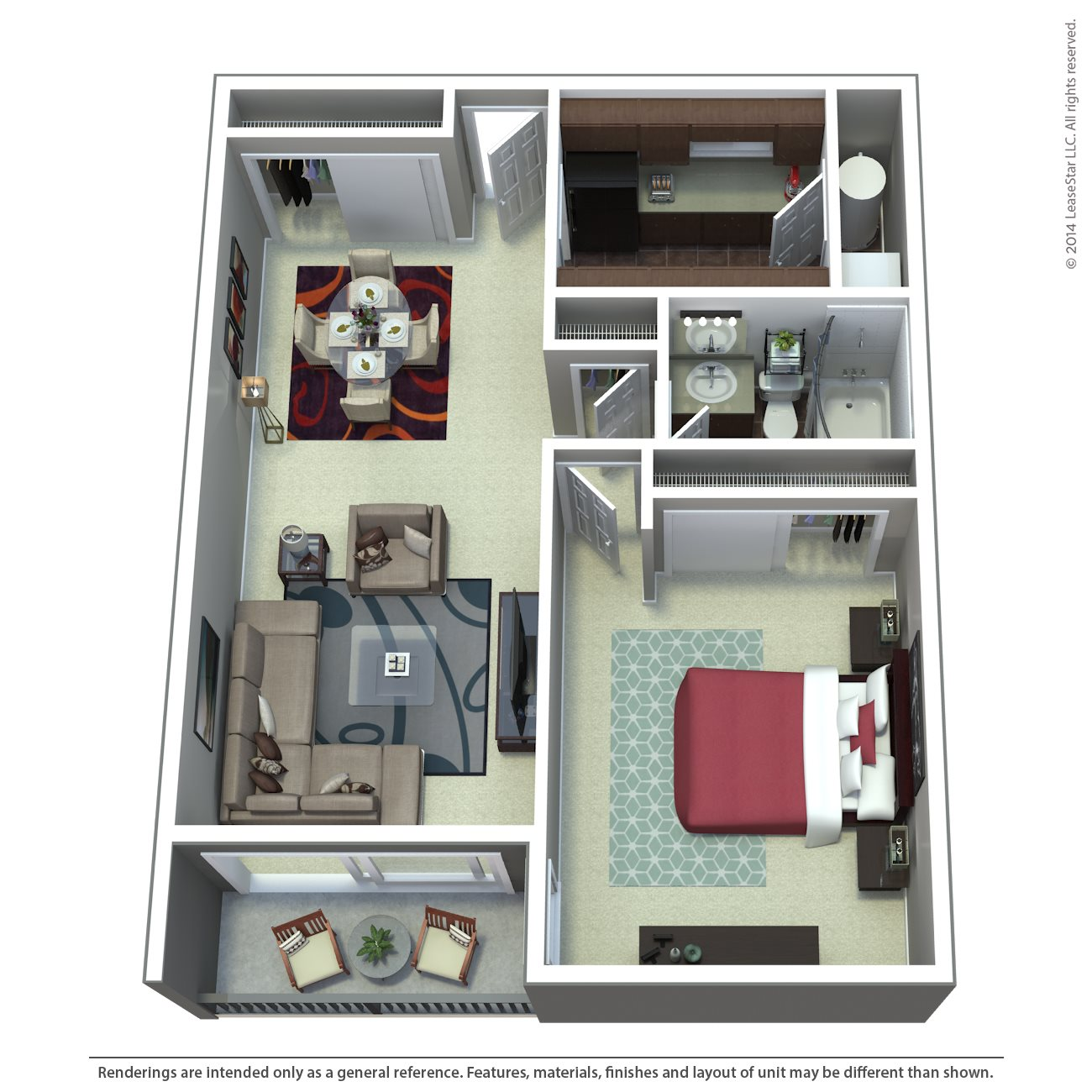 One Bedroom | C1 | C2 Floor Plan 1