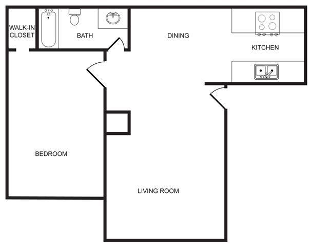 HM 1 Bedroom Floor Plan 1