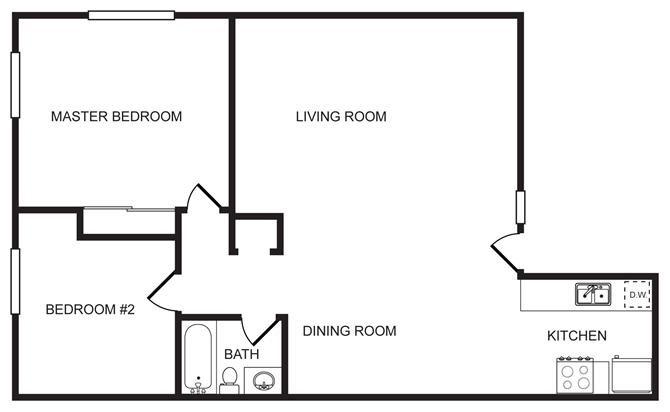 HM 2 Bedroom Floor Plan 2