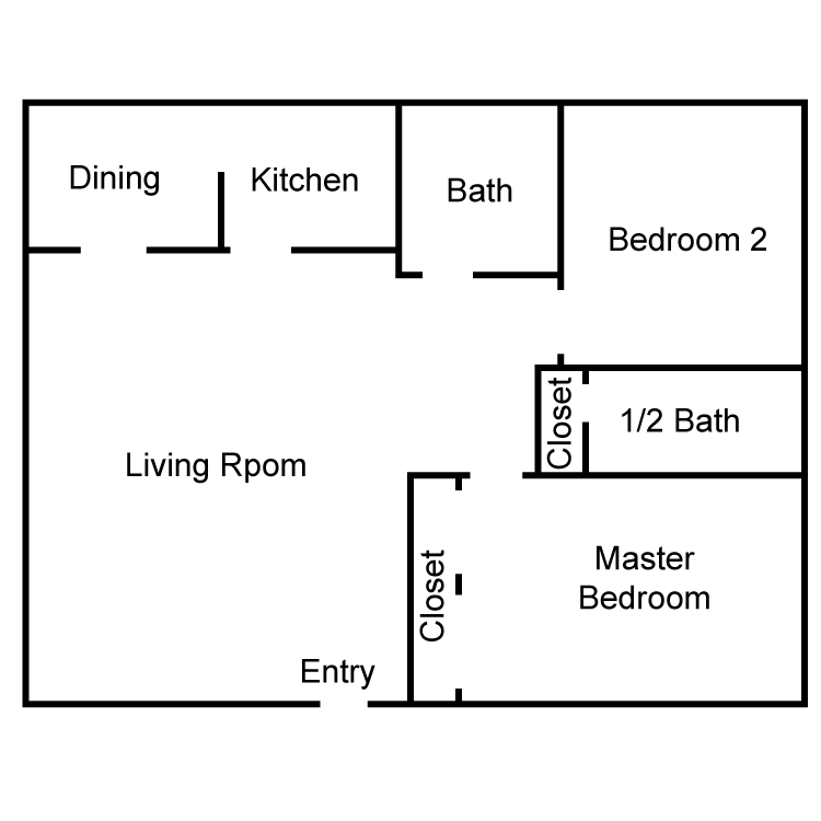 Corinthian  2 Bedroom Floor Plan 5