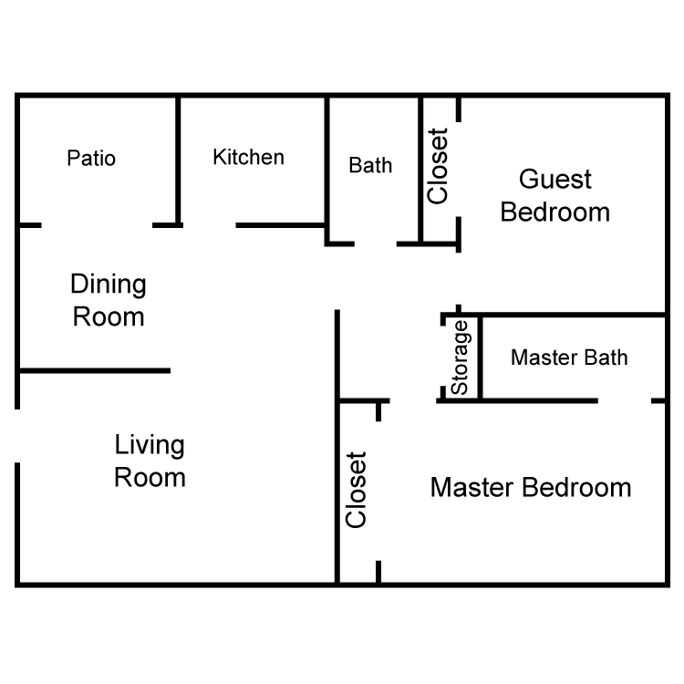 Corinthian Large 2 Bedroom Floor Plan 6