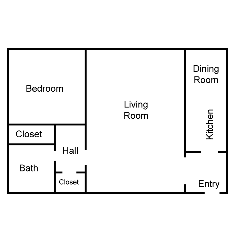 Corinthian Large 1 Bedroom Floor Plan 3