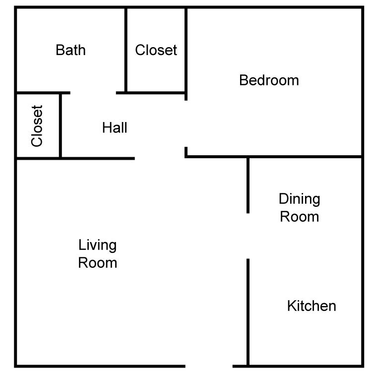 Corinthian 1 Bedroom - Exterior Floor Plan 2