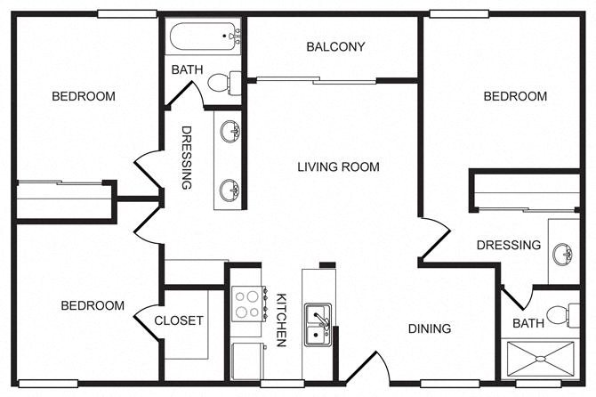 Solita 3 Bedroom 2 Bath Floor Plan 7
