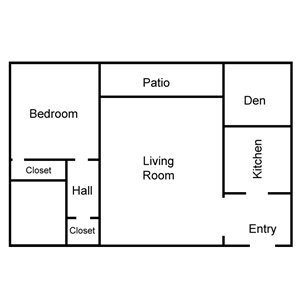 Corinthian 1 Bedroom Plus Den
