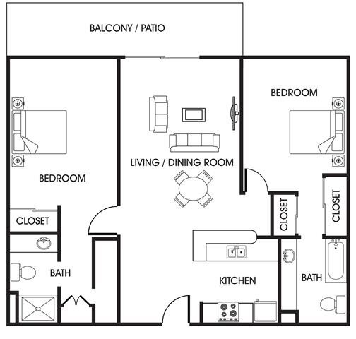 Floor Plans Of Bay Pointe Apartments In San Diego, CA