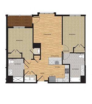 Type HP - Two Bedroom