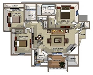 Sawgrass apartments 2859 south conway road orlando fl for The villages gardenia floor plan