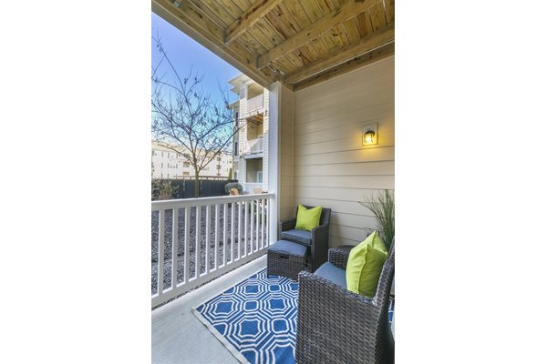 Private Balconies and Patios with Storage at Aventura at Forest Park, St. Louis, MO