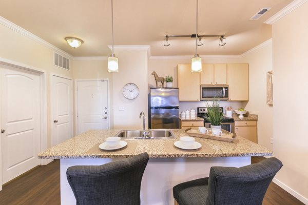 Modern Kitchen with Separate Breakfast Bar at Aventura at Forest Park, St. Louis, MO