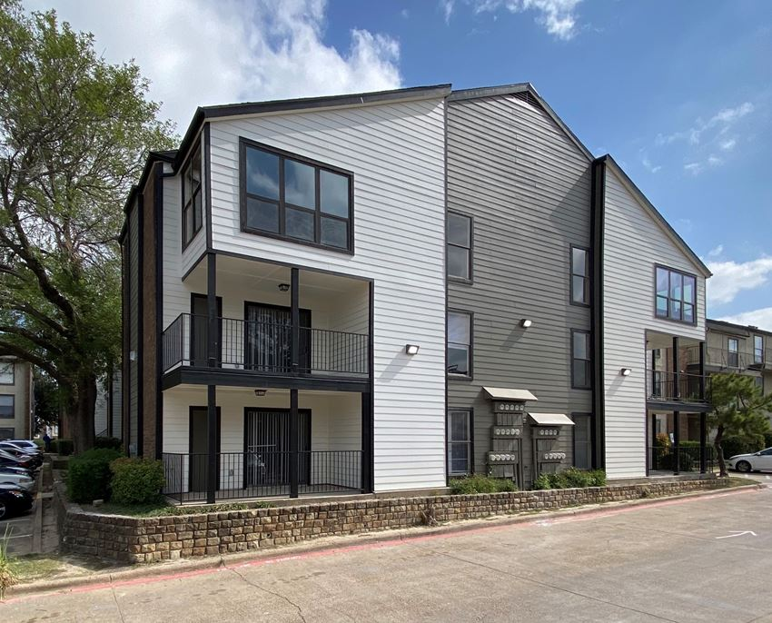 Renovated three story apartment building