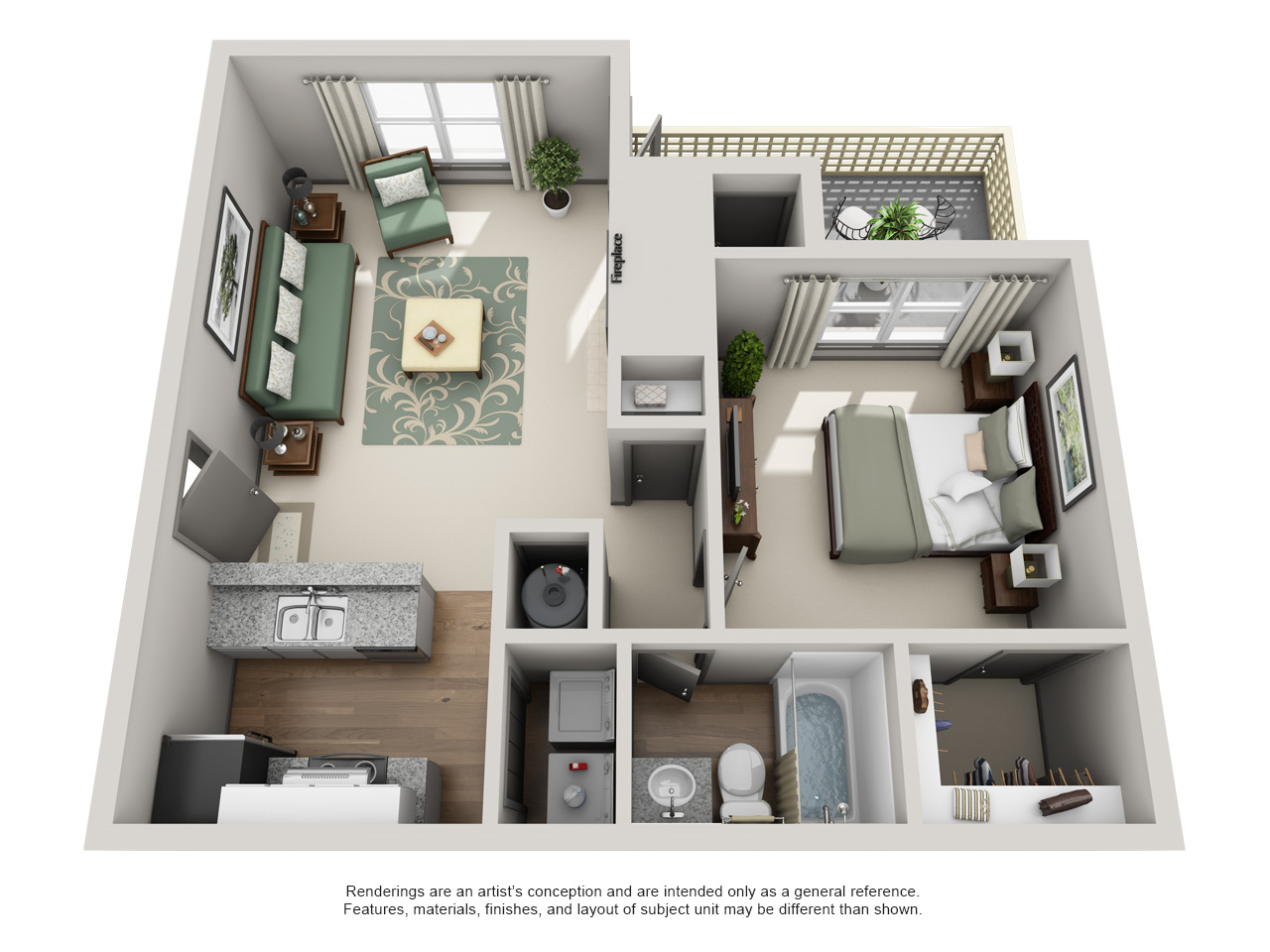 Crosstown At Chapel Hill Apartment Homes   1 Bedroom 1 Bath Apartment