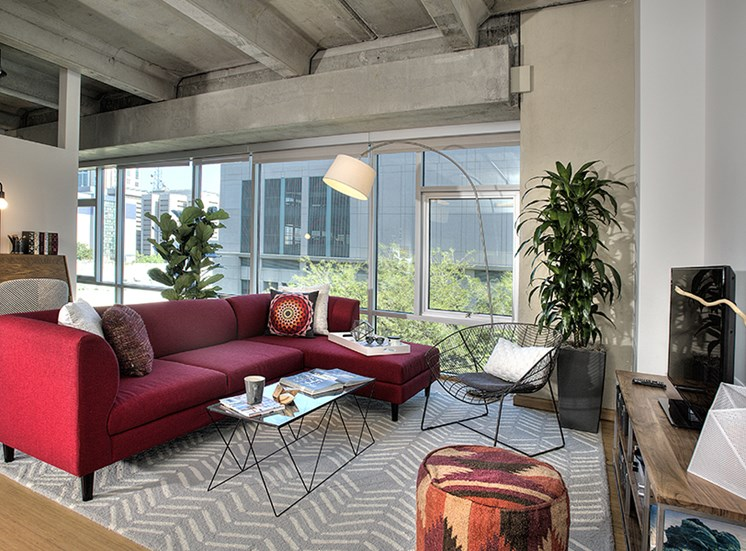 Open Spaces with Floor to Ceiling Windows