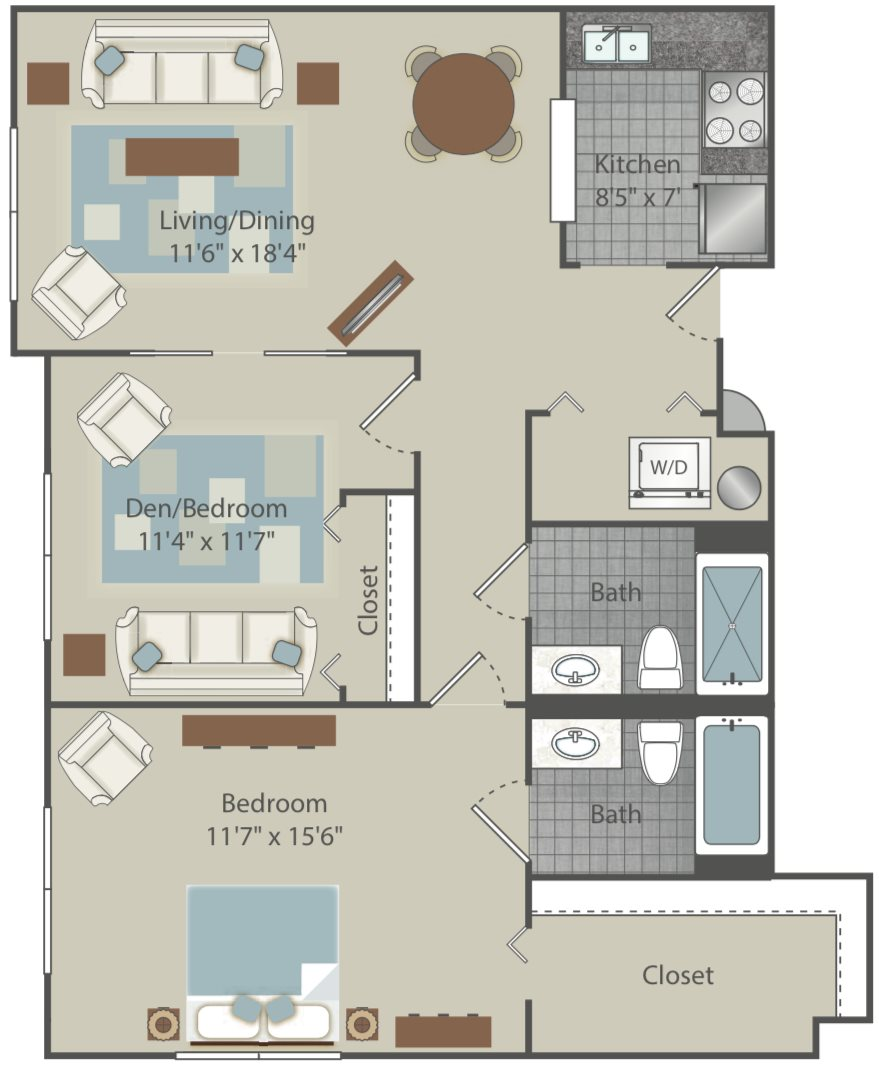 Mountain Creek Apartments: Floor Plans Of Clear Creek Commons In Golden, CO
