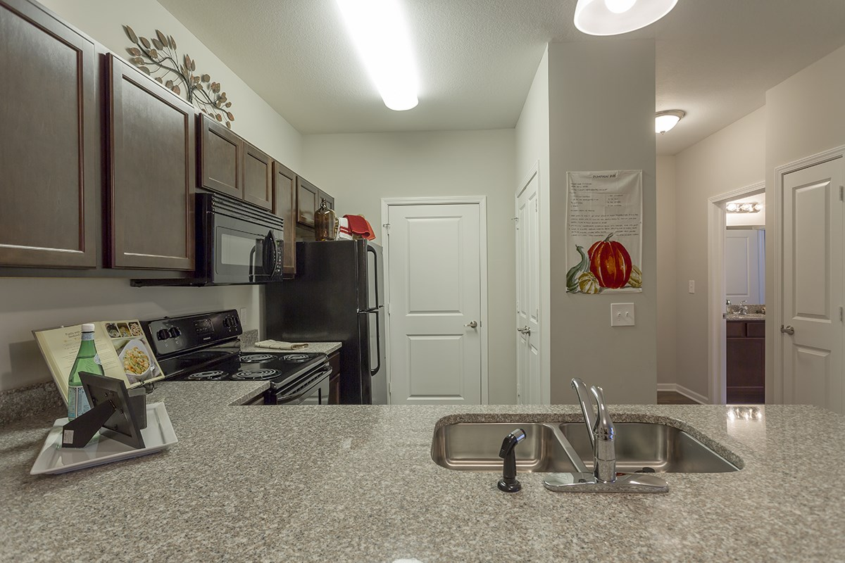 Kitchen at Steeplechase at Parkview Apartments in Fort Wayne, IN