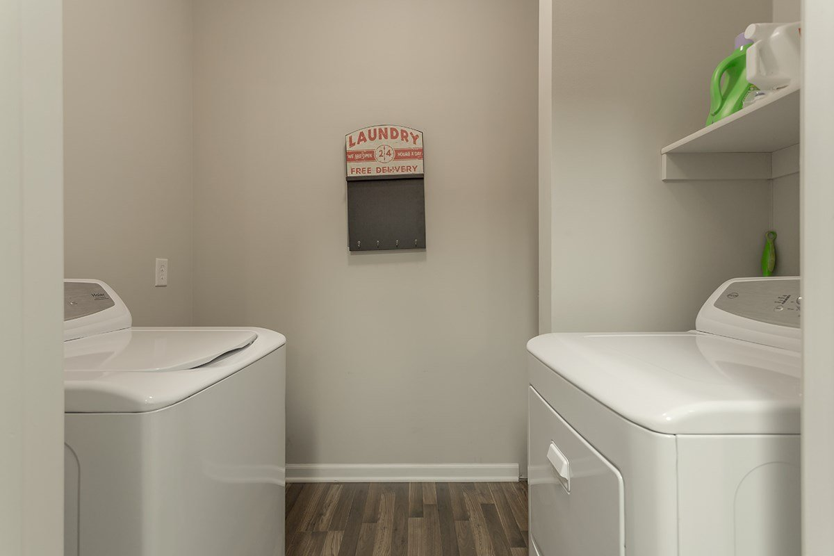 Laundry Room at Steeplechase at Parkview Apartments in Fort Wayne, IN