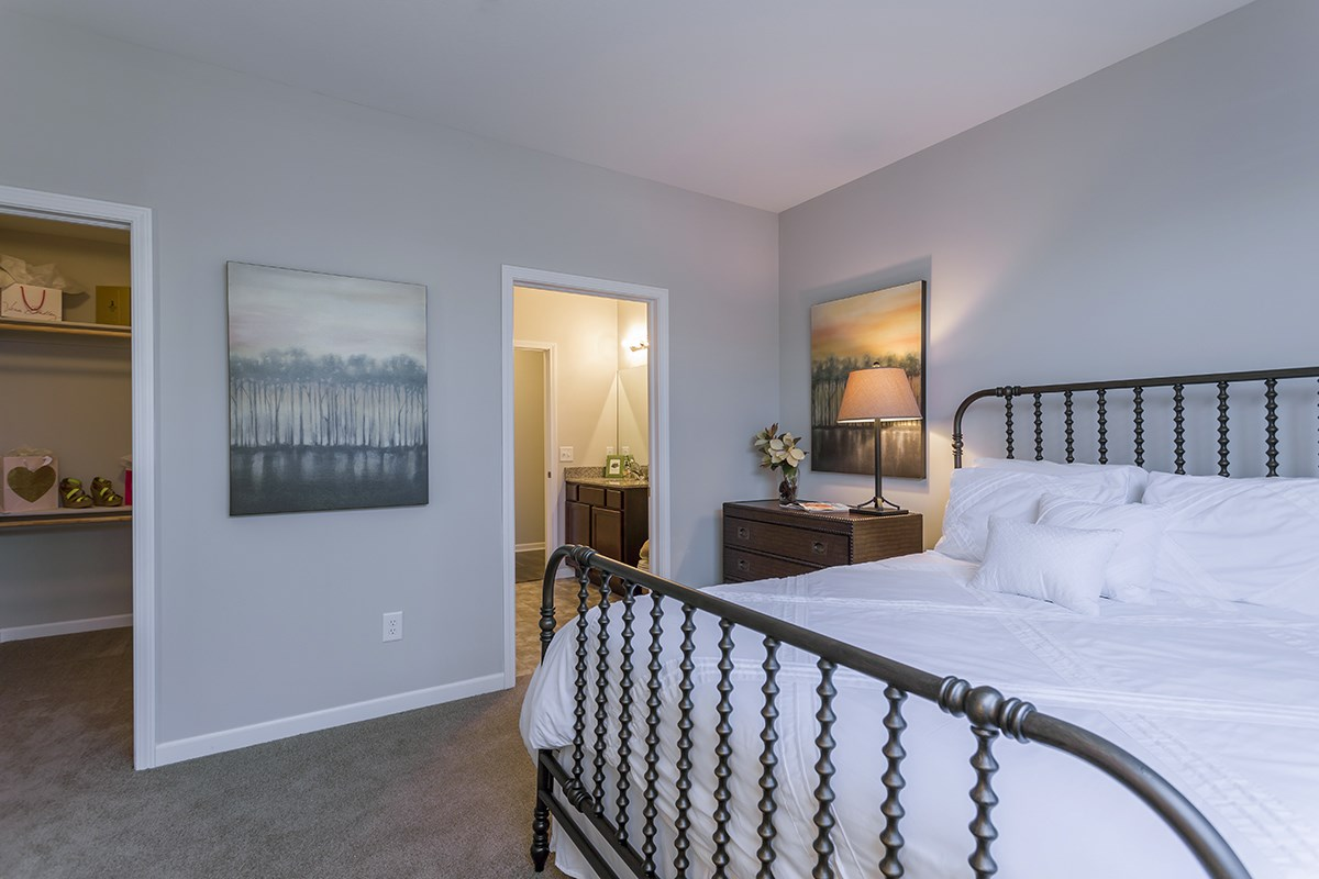Bedroom at Steeplechase at Parkview Apartments in Fort Wayne, IN
