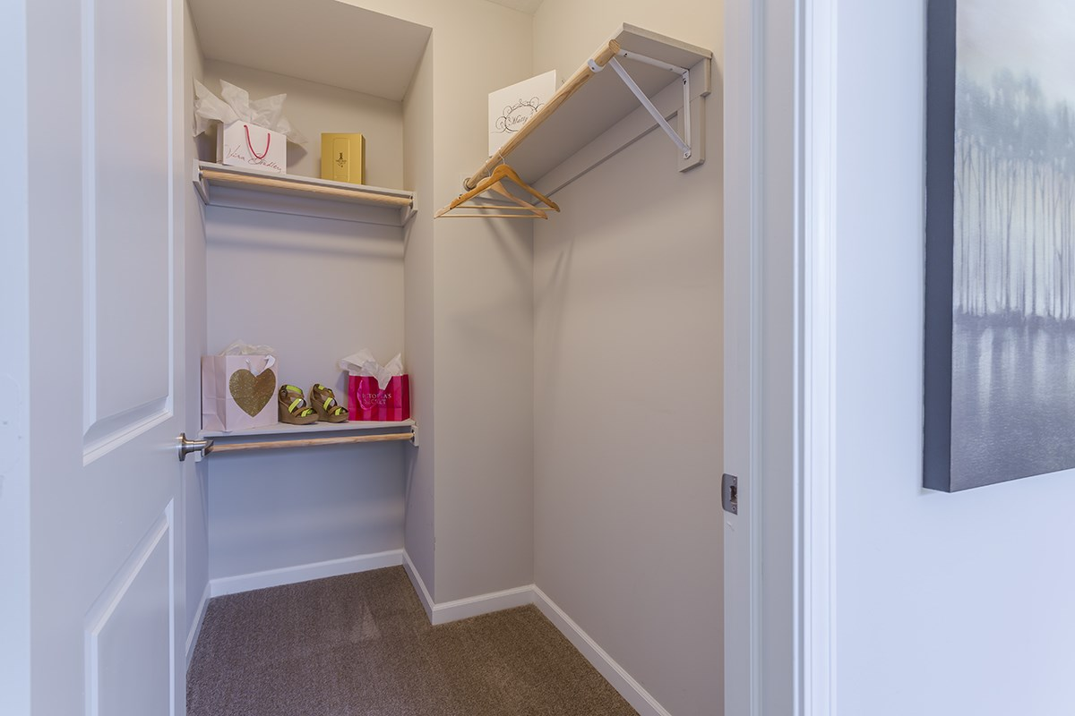 Walk-In Closet at Steeplechase at Parkview Apartments in Fort Wayne, IN