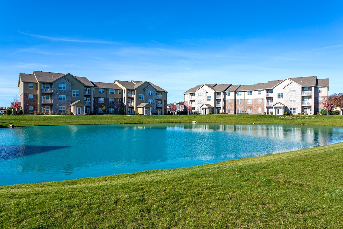 Pond at Steeplechase at Parkview Apartments in Fort Wayne, IN