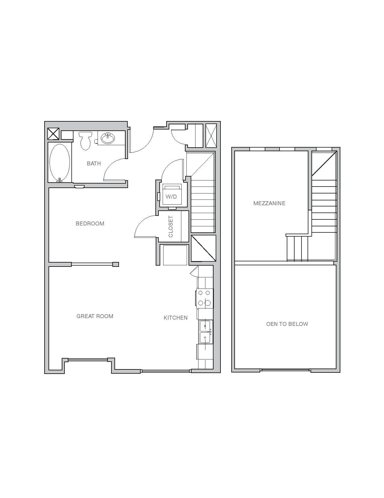 Studio Loft Floor Plan 2