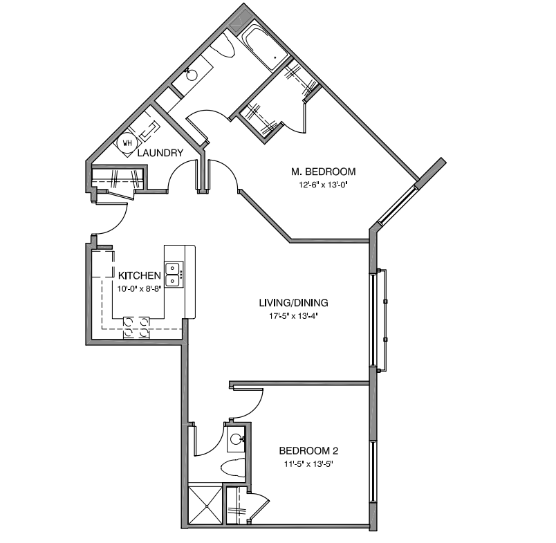 The 11 Split Floor Plan 12