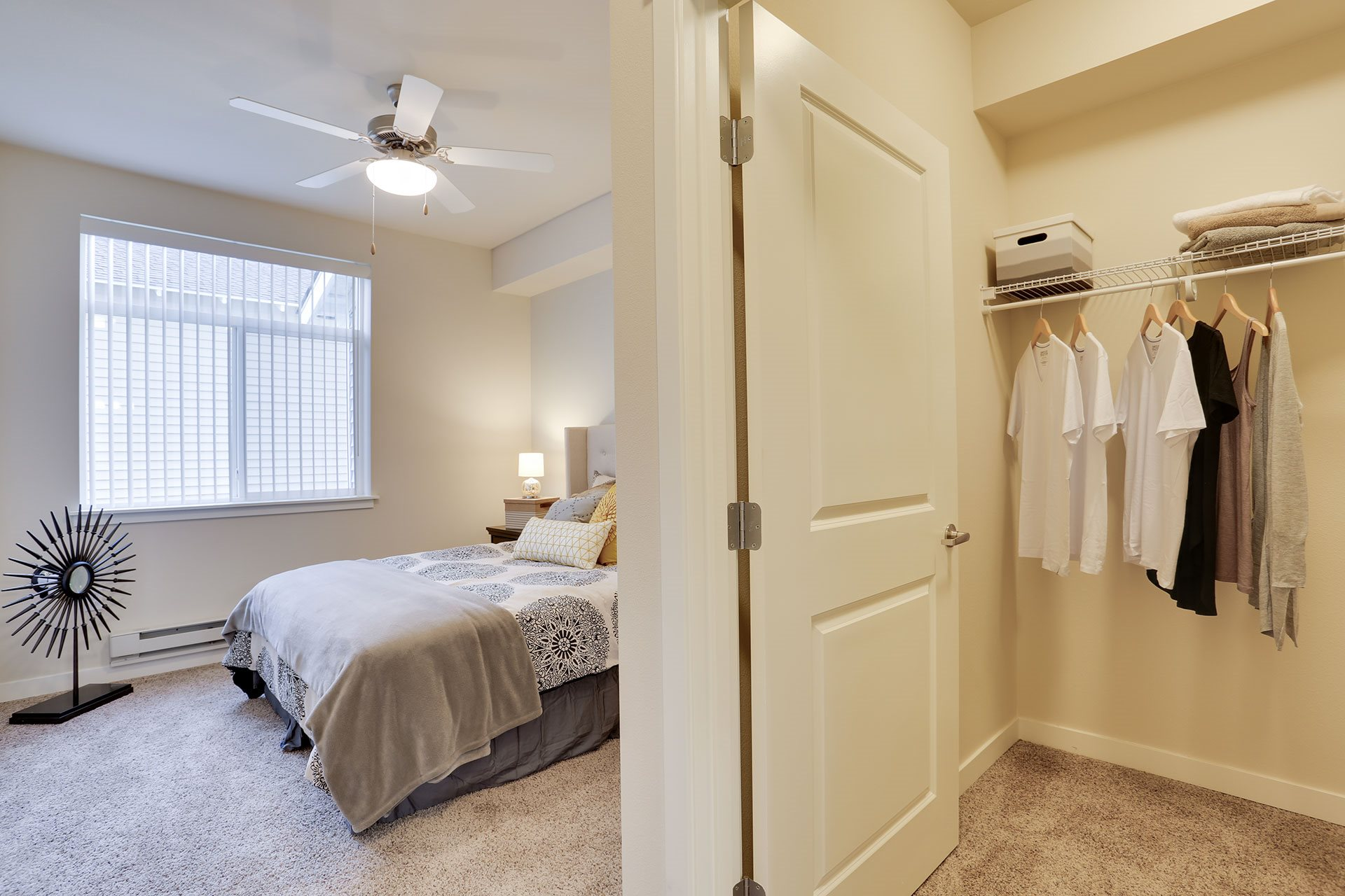 River House Apartments Bedroom and Walk-In Closet